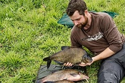 Andy with a net full of Bream